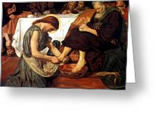 Christ Washing Peter's Feet Greeting Card