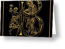 Christian Initial Letter B Greeting Card