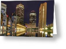 Christian Science Center-boston Greeting Card by Joann Vitali
