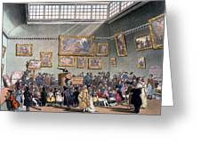 Christies Auction Room, Illustration Greeting Card