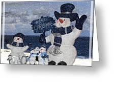Christmas - Snowmen Collection - Family - Peace - Snow Greeting Card