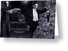 Christmas At Dracula's Greeting Card