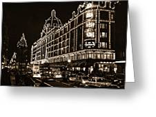 Christmas At Harrods Department Store - London Greeting Card