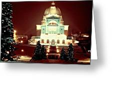 Christmas At St. Joseph's Oratory Greeting Card