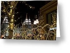 Christmas At Temple Square 11 Greeting Card