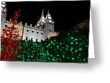 Christmas At Temple Square 12 Greeting Card