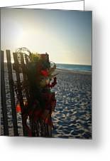 Christmas At The Beach Greeting Card