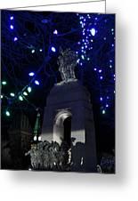 Christmas At The War Memorial Greeting Card