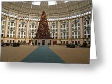 Christmas At West Baden Greeting Card by Sandy Keeton