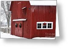 Christmas Barn 3 Greeting Card
