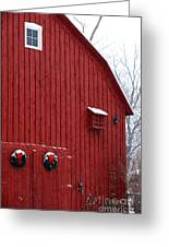 Christmas Barn 4 Greeting Card