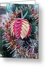 Christmas Baubles Greeting Card by Debra Piro