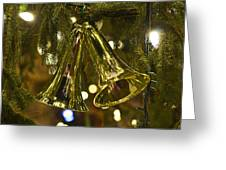 Christmas Bells Ornaments Faneuil Hall Tree Boston Greeting Card