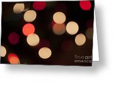 Christmas Bokeh Lights Greeting Card