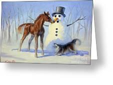 Christmas Bounty Greeting Card by Jeanne Newton Schoborg