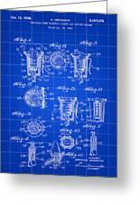 Christmas Bulb Socket Patent 1936 - Blue Greeting Card