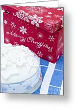 Christmas Cake Greeting Card by Anne Gilbert
