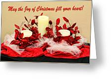 Christmas  Candels Greeting Card
