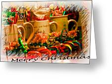 Christmas Candies Greeting Card