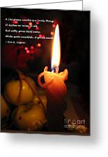 Christmas Candle Greeting Greeting Card