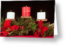 Christmas Candle Trio Greeting Card