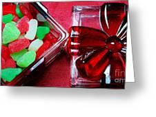 Christmas Candy - Candy Dish - Sweets - Treats Greeting Card