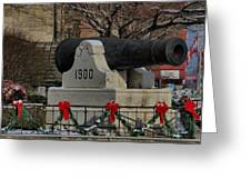 Christmas Cannon Greeting Card
