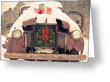 Christmas Car Card Greeting Card by Edward Fielding