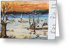 Christmas Card Painting Greeting Card