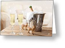 Christmas Champagne Greeting Card