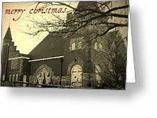 Christmas Chapel Greeting Card