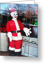 Christmas Clown Greeting Card