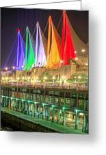 Christmas Colors At Canada Place Greeting Card