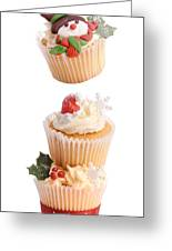 Christmas Cupcake Tower Greeting Card