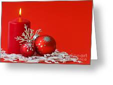 Christmas Decoration Background Greeting Card