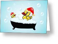 Christmas Ducks Greeting Card