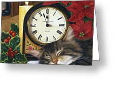 Christmas Eve Nap Greeting Card