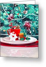 Christmas Eve Table Decoration Greeting Card