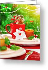Christmas Eve Table Setting Greeting Card