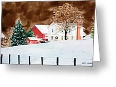 Christmas Farm Greeting Card