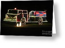 Christmas Fire Truck 2 Greeting Card