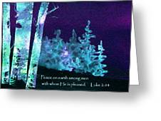 Christmas Forest Greeting Card