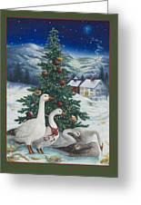 Christmas Geese Greeting Card