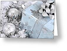 Christmas Gift Box And Decorations Greeting Card