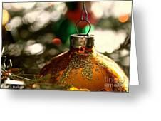 Christmas Gold Greeting Card