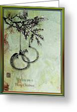 Christmas Greeting Card With Ink Brush Drawing Greeting Card
