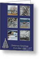 Christmas Greetings From The Coast Greeting Card