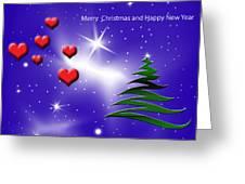 Christmas Hearts Greeting Card