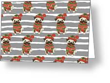 Christmas Holidays Seamless Vector Greeting Card