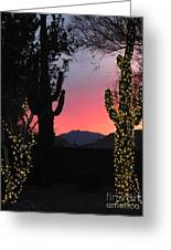 Christmas In Arizona Greeting Card